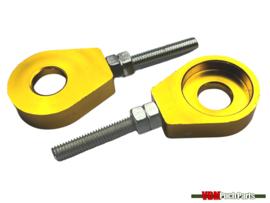 Chain tensioner set M6 CNC aluminium gold