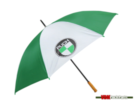 Umbrella with Puch logo 130cm (White/Green)