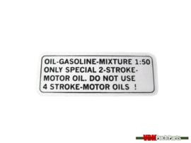 Puch benzine mix sticker (Zwart)