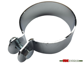 Exhaust clamp (70mm Chrome)
