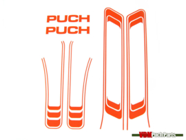 Lines sticker set PVC transfers orange (Puch Maxi S)