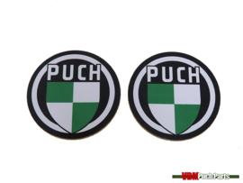 Untersetzer Satz mit Puch Logo 2 Stück (95mm)