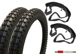 17 inch 2.50 Kenda Trial K262 Tyre set