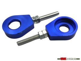 Chain tensioner set M6 CNC aluminium blue