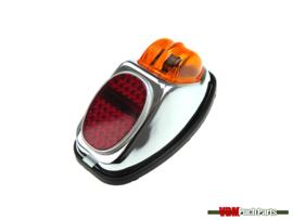 Taillight Hella big chrome universal Puch/Kreidler/Zundapp