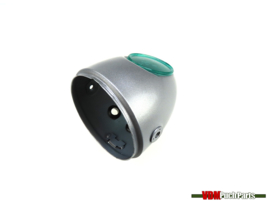 Egg-Headlight housing silver grey (Side mounting)