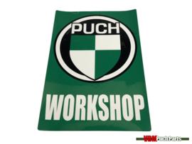 Workshop sticker Puch (English)