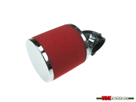 Airfilter Athena red 90 degrees (30mm)