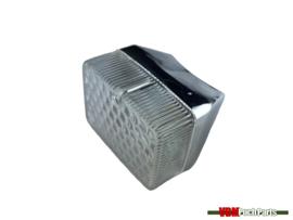 Taillight small chrome/diamond pattern glass Puch Maxi