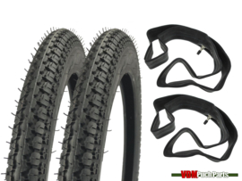 16 Inch 2.25 Anlas NR7 street profile tyre set (2.25x16)