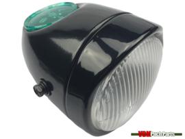 Egg-Headlight black (Side mounting)