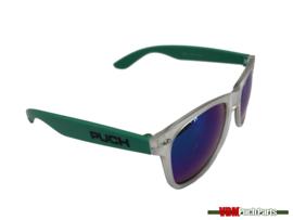 Sunglasses mit Puch Aufdruck (Weiß/Grün)