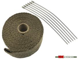 Hitteband uitlaat titanium (5 Meter)