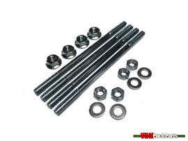 Cylinder stud mounting set complete M6 (Collar nuts)