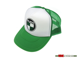 Cap with Puch logo (White/Green)