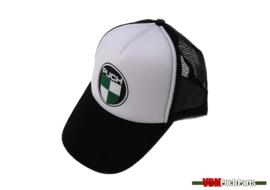 Kappe mit Puch Logo (Weiß/Schwarz)
