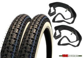 17 inch 2.25 Kenda K252 Tyre set (White wall)