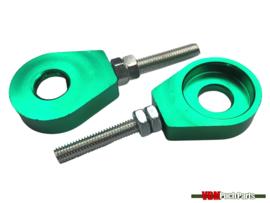 Chain tensioner set M6 CNC aluminium green