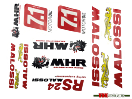 Sticker set Malossi 10-delig
