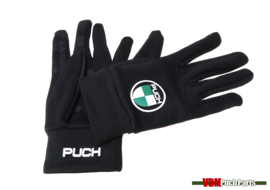 Gloves with Puch logo (Black)