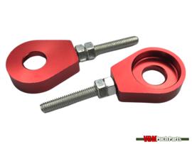 Chain tensioner set M6 CNC aluminium red