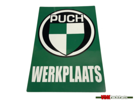 Werkstatt Aufkleber Puch (Niederländisch)