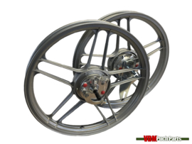 16/17 Inch Puch Maxi 5 star Alloy Cast Wheels set complete (Powdercoated grey)