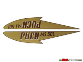 Tank transfer sticker set Puch MS50L