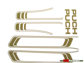 Line sticker set Gold (Puch Maxi S)