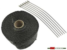 Hitteband uitlaat zwart (5 Meter)