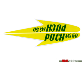 Tank transfer sticker set geel Puch MS50