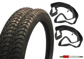 17 inch 2.50 Metzeler Semi ME22 Tyre Semislick set