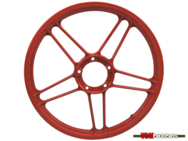 17 Inch Puch Maxi stervelg (Gepoedercoat rood)
