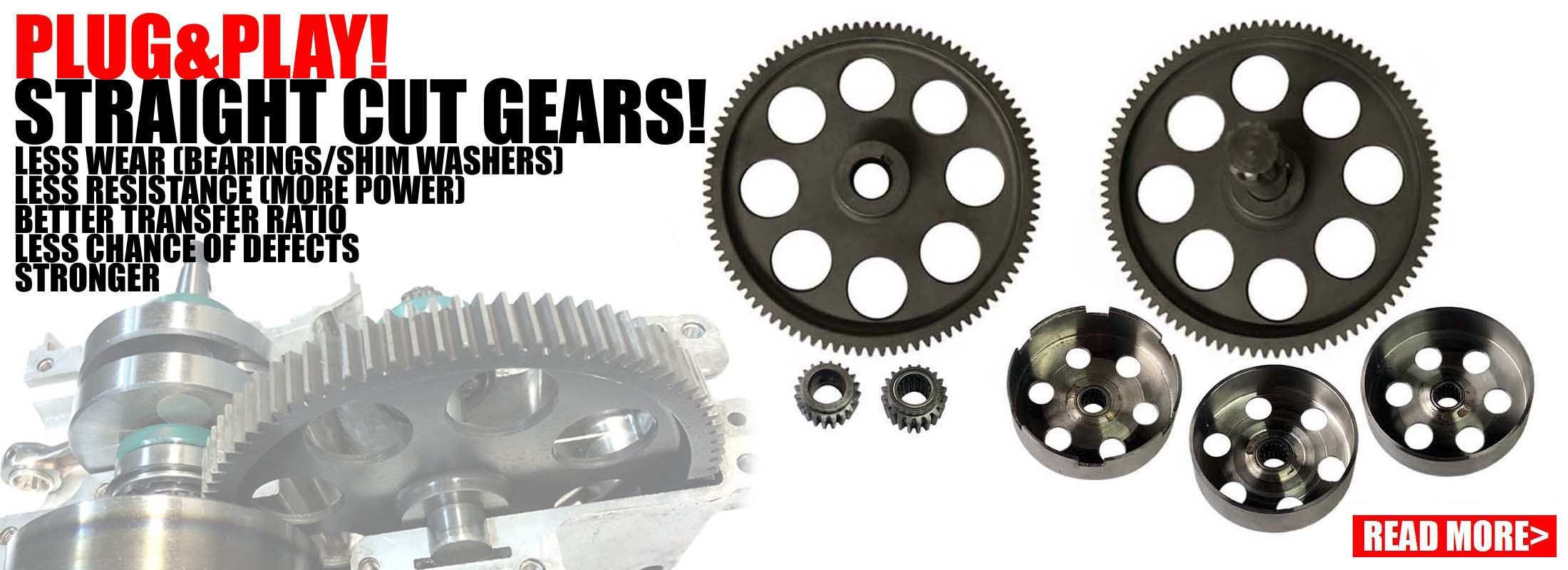 Straight cut gears