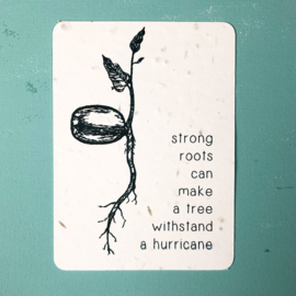 Strong Roots Postcard - set van 4 kaarten met enveloppen