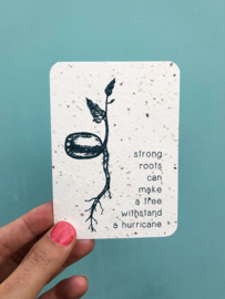Strong roots notecards - set van 8 kaarten met enveloppen