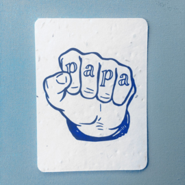 Papa - set of 4 post cards with envelopes