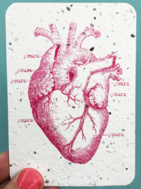 My Heart is yours notecards - set van 8 kaarten met enveloppen