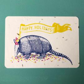 Holiday Armadillo Postcard - set van 4 kaarten met enveloppen