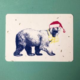 Winter bear Postcard - set van 4 kaarten met enveloppen