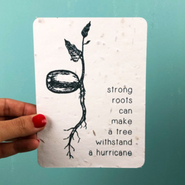 Strong Roots - set of 4 post cards with envelopes