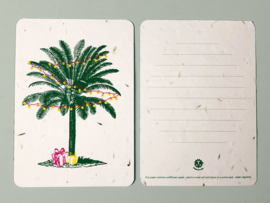 Palm & Presents Postcard - set van 4 kaarten met enveloppen