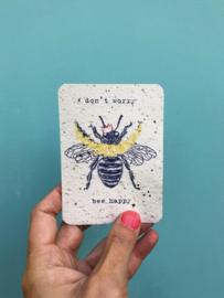 Don't worry notecards - set van 8 kaarten met enveloppen