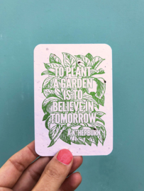 To Plant a Garden notecards - set with 8 cards + envelopes