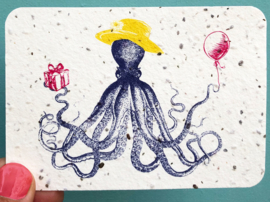 Tentacle Terrence notecards - set van 8 kaarten met enveloppen