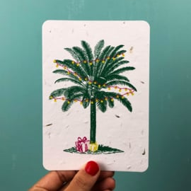 Palm & Presents - set of 4 post cards with envelopes