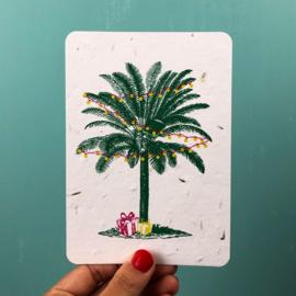 Palm & Presents - set van 4 kaarten met enveloppen