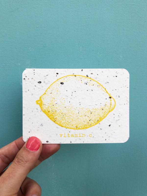Vitamin C notecards - set van 8 kaarten met enveloppen