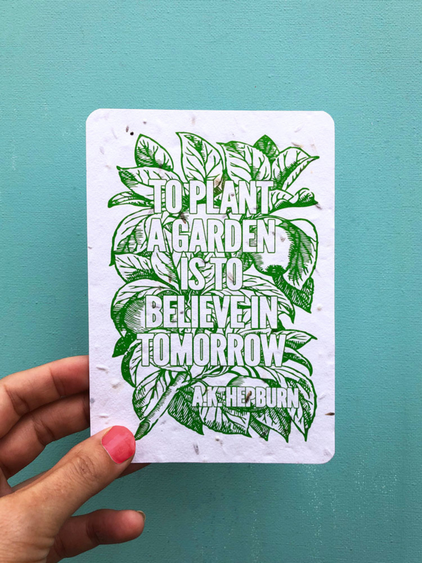 To Plant a Garden - set of 4 post cards with envelopes