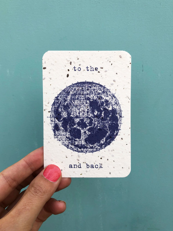 To the Moon notecards - set van 8 kaarten met enveloppen